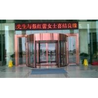 最新自动旋转门 北京酒店两翼旋转门 酒店豪华旋转门