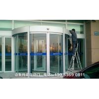 自动旋转玻璃门 酒店豪华旋转门 弧形两翼旋转门