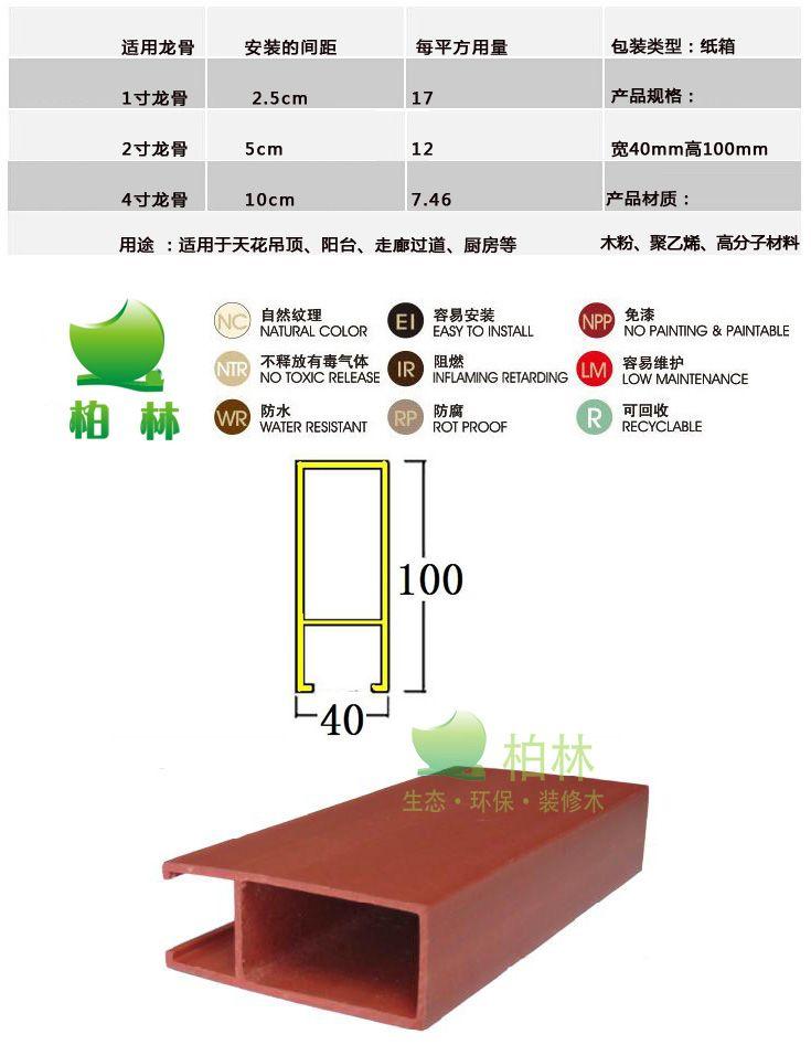 深圳生态木40 100生态木吊顶天花效果图高清图片