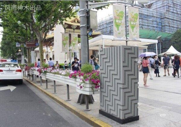 桶槽式 花箱护栏 PVC护栏 市政护栏 市政花箱 电箱外套