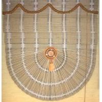 明珠窗帘-布艺-扇形竹帘