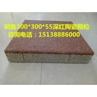 陶瓷颗粒300*600*55海绵城市地面透水砖