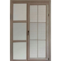 家世兴门窗-90铝木纱窗一体内平开门窗