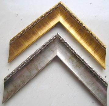 金银箔画框线条