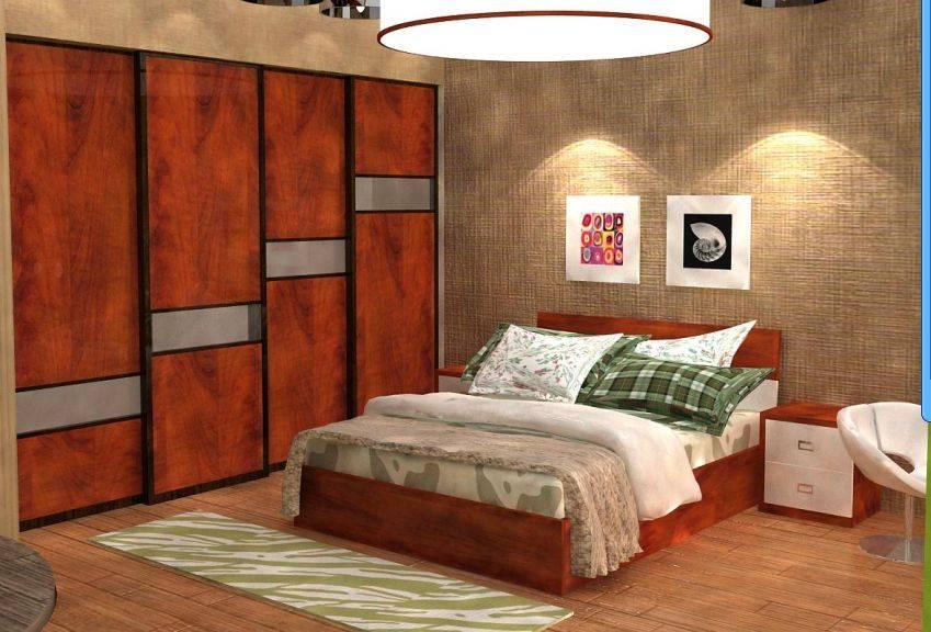 现代风格衣柜效果图主人房