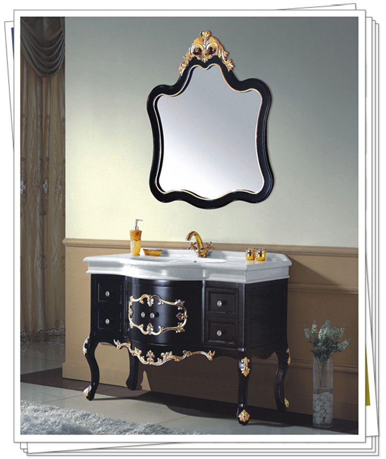 拓陶卫浴欧式豪华落地浴室柜 大理石台面卫浴储物柜图片