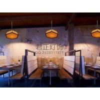 厂家定制美式乡村复古餐厅客厅吧台咖啡麻绳麻布吊灯