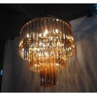 厂家定制欧式吊灯复式酒店吊灯工程用三层水晶吊灯