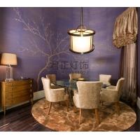 厂家定制 现代 中式布艺吊灯 客厅吊灯 餐厅茶楼创意吊灯