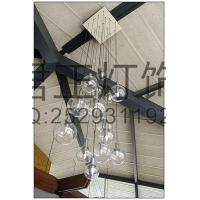 定制时尚餐厅吊灯 中式吊灯 客厅卧室透明玻璃吊灯