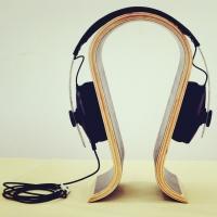 沃尔美供应弯曲木德国设计耳机架、曲木异形板加工、多款式