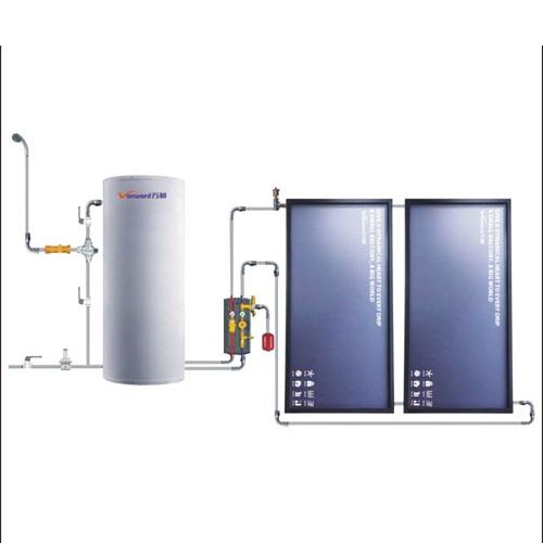 万和太阳能热水器别墅热水中心平板太阳能图片