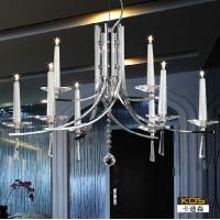 中山卡迪森现代酒店餐厅吊灯 简约卧室客厅灯 烛光水晶吊灯饰