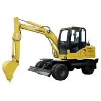 智能化操作沃尔华7.2吨轮式挖掘机
