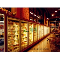 玻璃门风幕柜,商超专用玻璃门冷藏保鲜展示柜支持