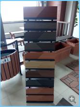 北京木塑材料 生态塑木厂家 塑木花箱护栏凉亭廊架