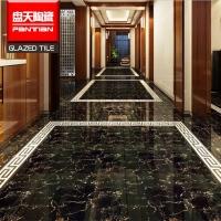 佛山瓷砖 精雕黑金花釉面瓷砖