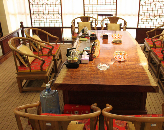原木大板桌实木办公桌会议桌接待桌会客桌