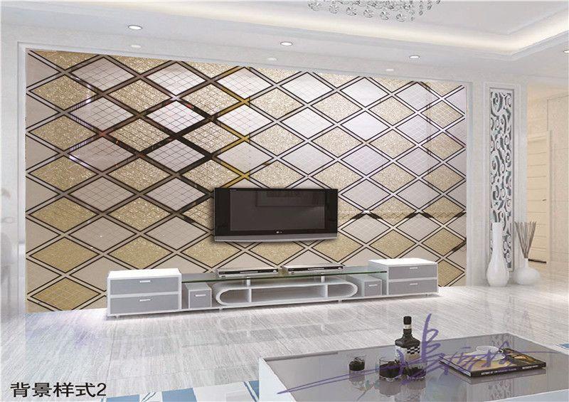 金汇通建筑装饰专业设计各种高档拼镜背景墙影视墙