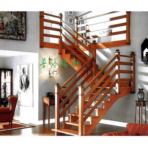 室内实木楼梯 普洛瑞斯 楼梯装修效果图