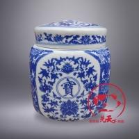 供应陶瓷四方罐子,青花瓷四方罐子