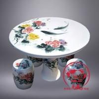 中国风景德镇陶瓷桌子凳子