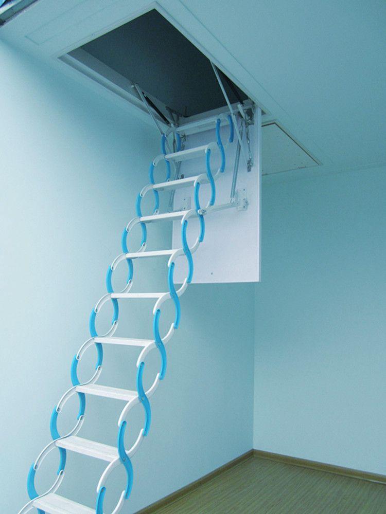 阁楼伸缩楼梯 电动阁楼伸缩楼梯图片