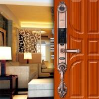 智能锁厂家直销DD2指纹密码锁 酒店家居智能门锁