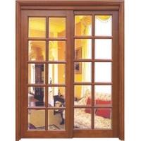 红河林实木玻璃门-HBL01