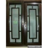 天津88红橡无缝焊接铝包木门窗