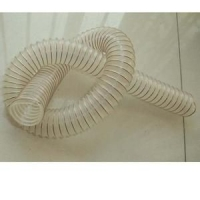 pu干性物料输送管 钢丝螺旋吸尘管