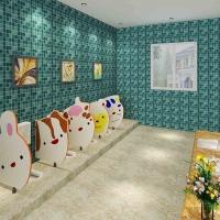 卡通造型幼儿园厕所挡板 生态木防水、防虫蚁、防腐蚀厕所挡板