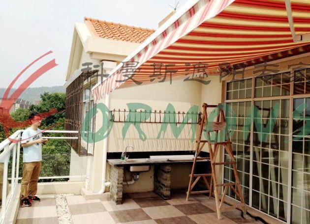 供应南京科曼斯雨棚遮阳篷户外曲臂篷