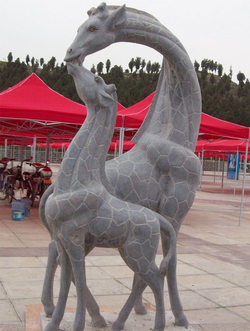 长颈鹿石雕长颈鹿动物雕刻