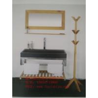 供应厂家直销白橡木实木浴室柜JY-001