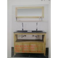 供应厂家直销白橡木实木浴室柜JY-002A