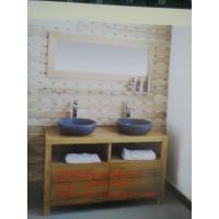 供应厂家直销白橡木实木浴室柜JY-009