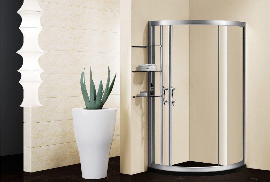 弧形 简易 优质 高级 钢化玻璃 淋浴房 高清图片