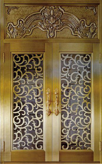 防盗别墅门 不锈钢铜门 真铜门