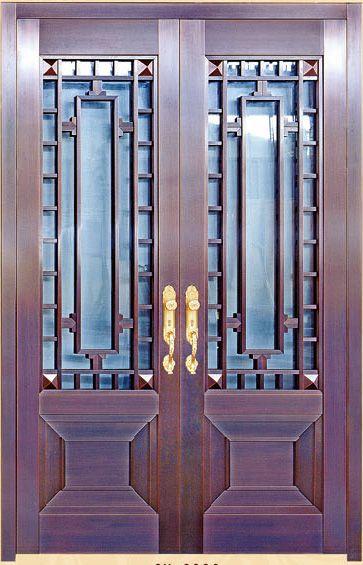 豪华铜门 房间门不锈钢铜门