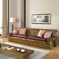 榕华家居韩式榆木单人双人四人沙发组合客厅家具
