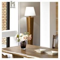 榕华家居韩式榆木落地灯实木立式灯客厅卧室灯