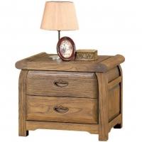 榕华家居卧室家具榆木床头柜实木床边柜抽屉式储物柜