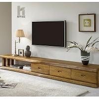 榕华家居榆木电视柜实木储物视听柜客厅组合家具