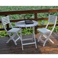 咖啡厅茶室专用家具阳台户外庭院纯实木桦木桌椅简约时尚桌椅组合