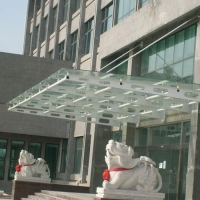 南京钢构雨棚01-南京大千铁艺加工厂