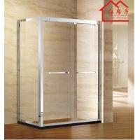 红房子淋浴房整体浴室屏风简易方形浴屏一字淋浴隔断移门洗澡间