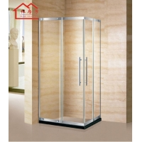 定制淋浴房隔断整体浴室不锈钢卫生间淋浴隔断玻璃屏风推拉门浴屏