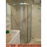 定制淋浴房隔断整体浴室玻璃移门卫生间浴屏弧扇形淋浴隔断推拉门