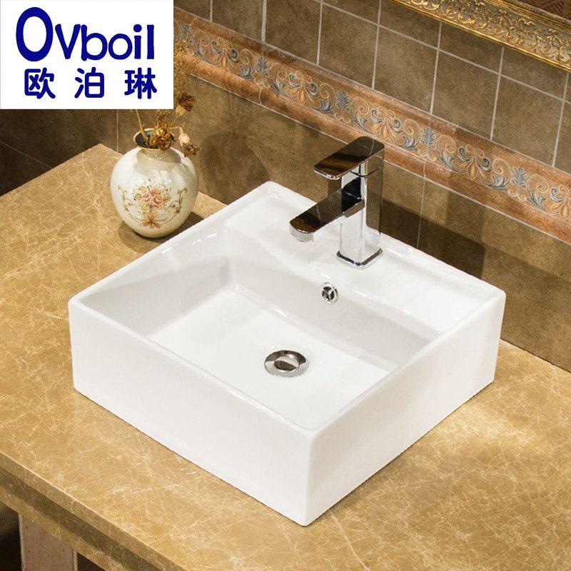 欧泊琳潮州厂家直销洁具陶瓷洗脸盆台上盆艺术盆面盆阳台洗手池